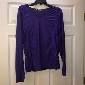 Athleta long sleeve purple shirt